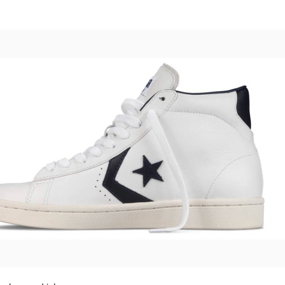 old school leather converse high tops